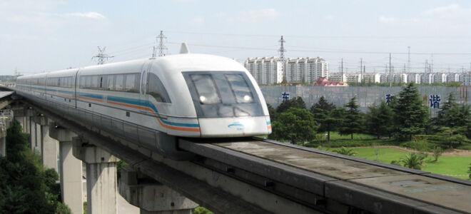 Поезд Маглев в Шанхае — китайский поезд на магнитной подушке