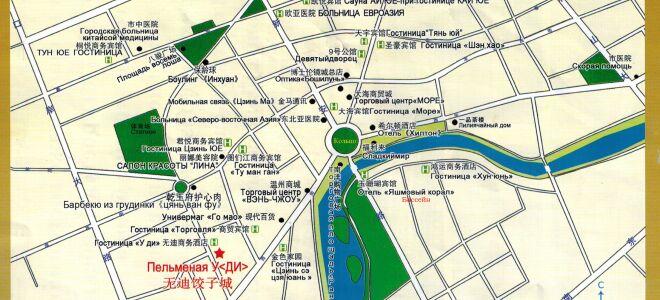 Карта Хуньчунь, Китай