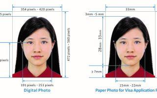 Требования к фото на китайскую визу