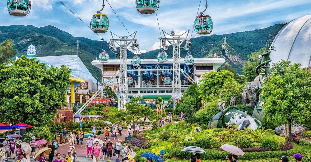 Достопримечательности Гонконга: парк развлечений Ocean Park