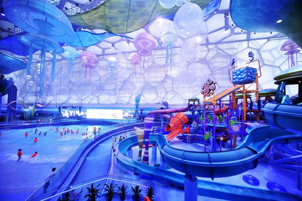 Достопримечательности Пекина: аквапарк Water Cube