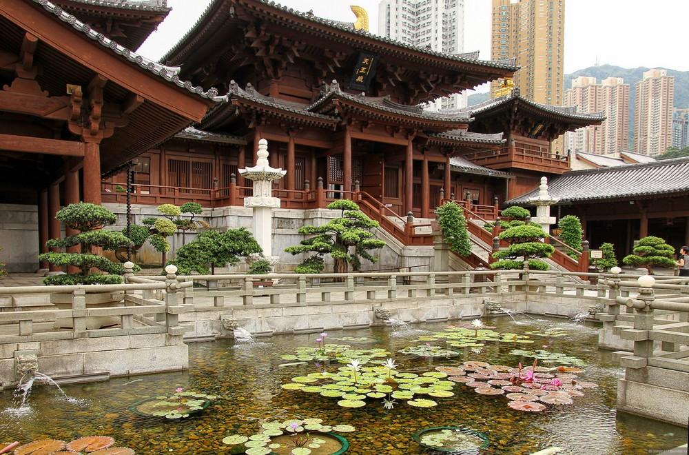 Достопримечательности Гонконга: женский монастырь Чилинь