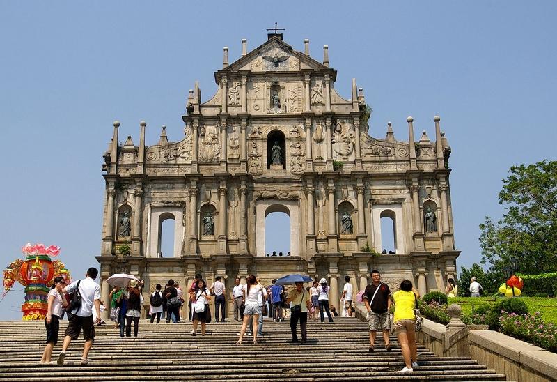 Достопримечательности Макао: руины собора св.Павла