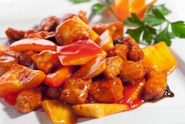 Свинина в рыбном соусе (юйсян жоусы)