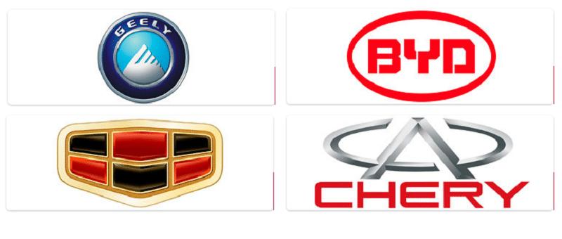 список китайских авто