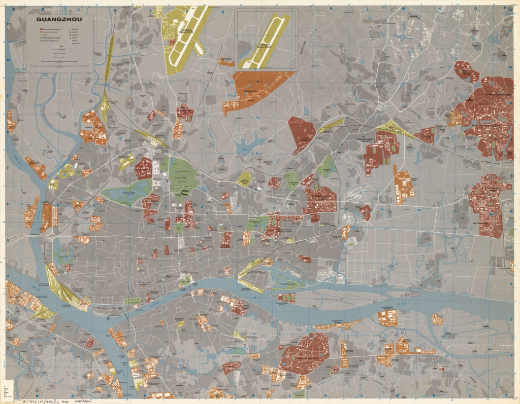 Подробная карта города Гуанчжоу