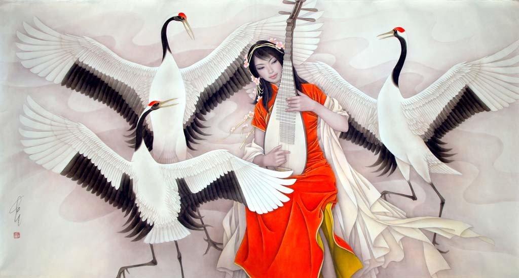 Журавль – птица-символ Китая