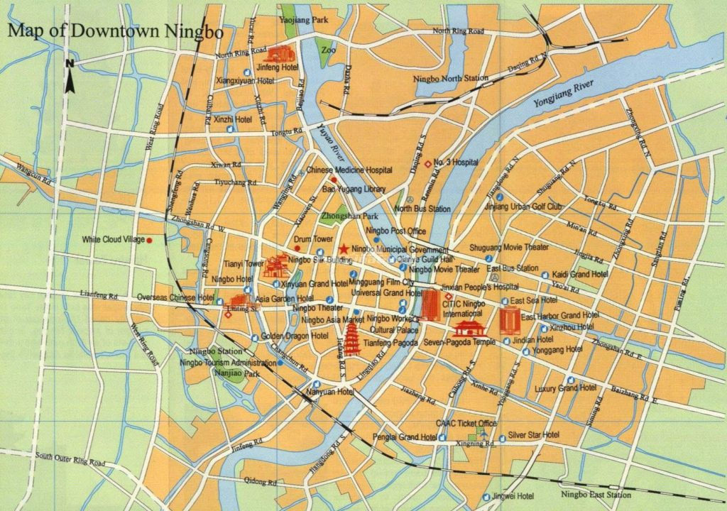 Карта Нимбо с достопримечательностями, старый город