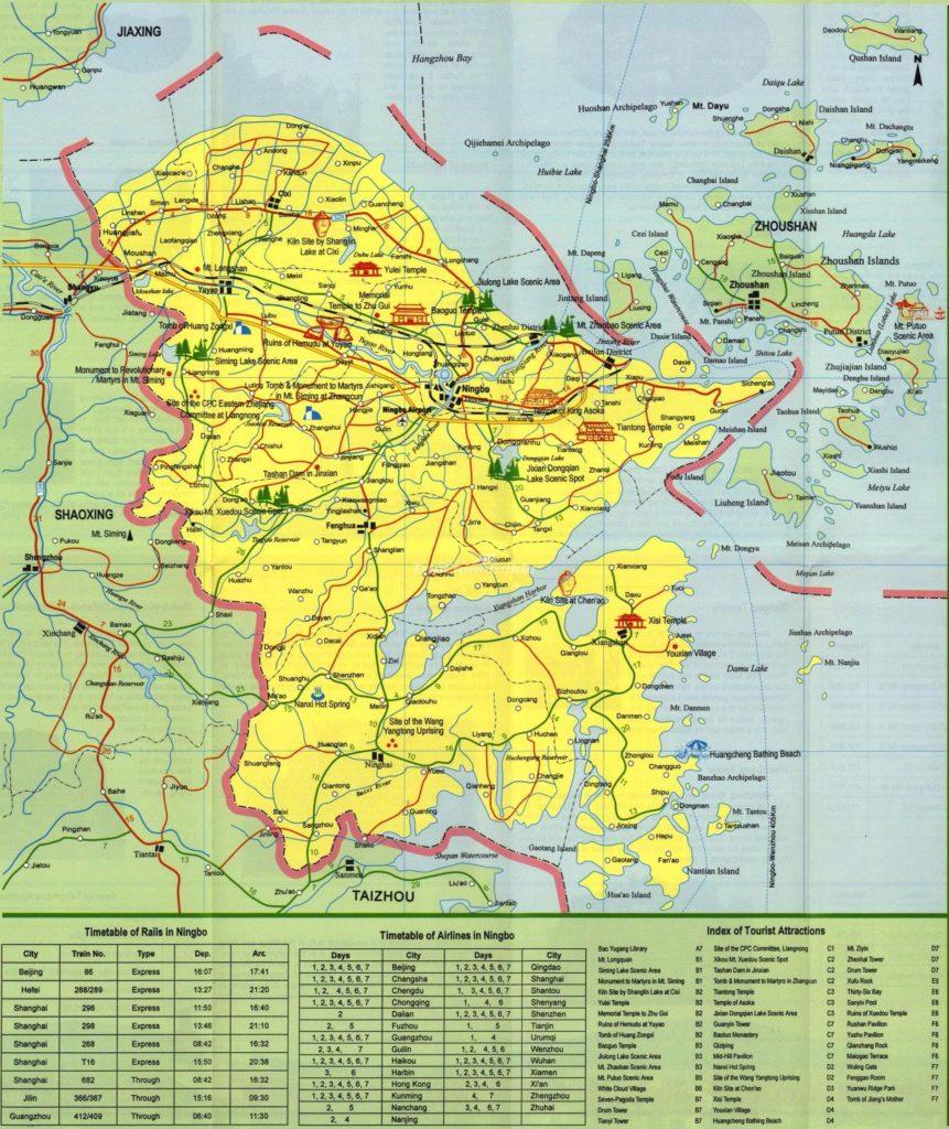 Подробная туристическая карта Нимбо с достопримечательностями