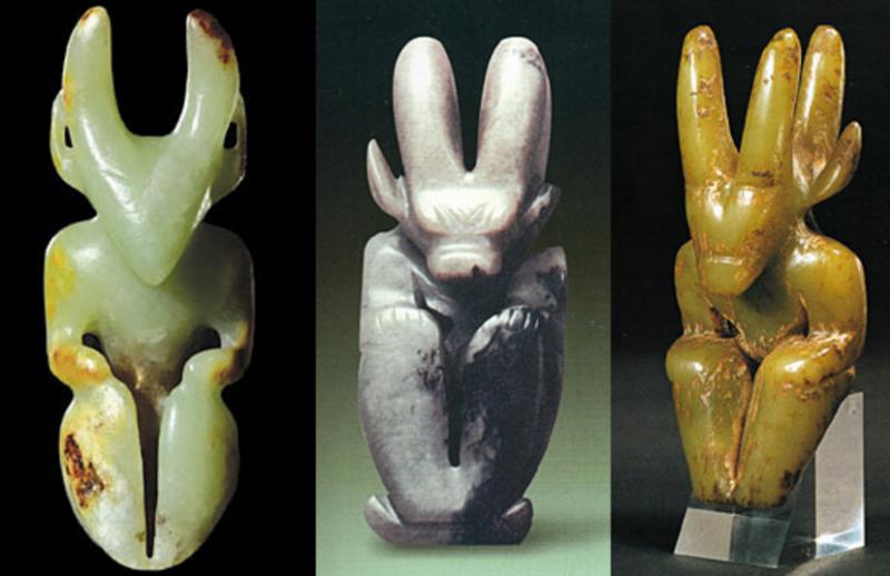 Нефритовые статуэтки