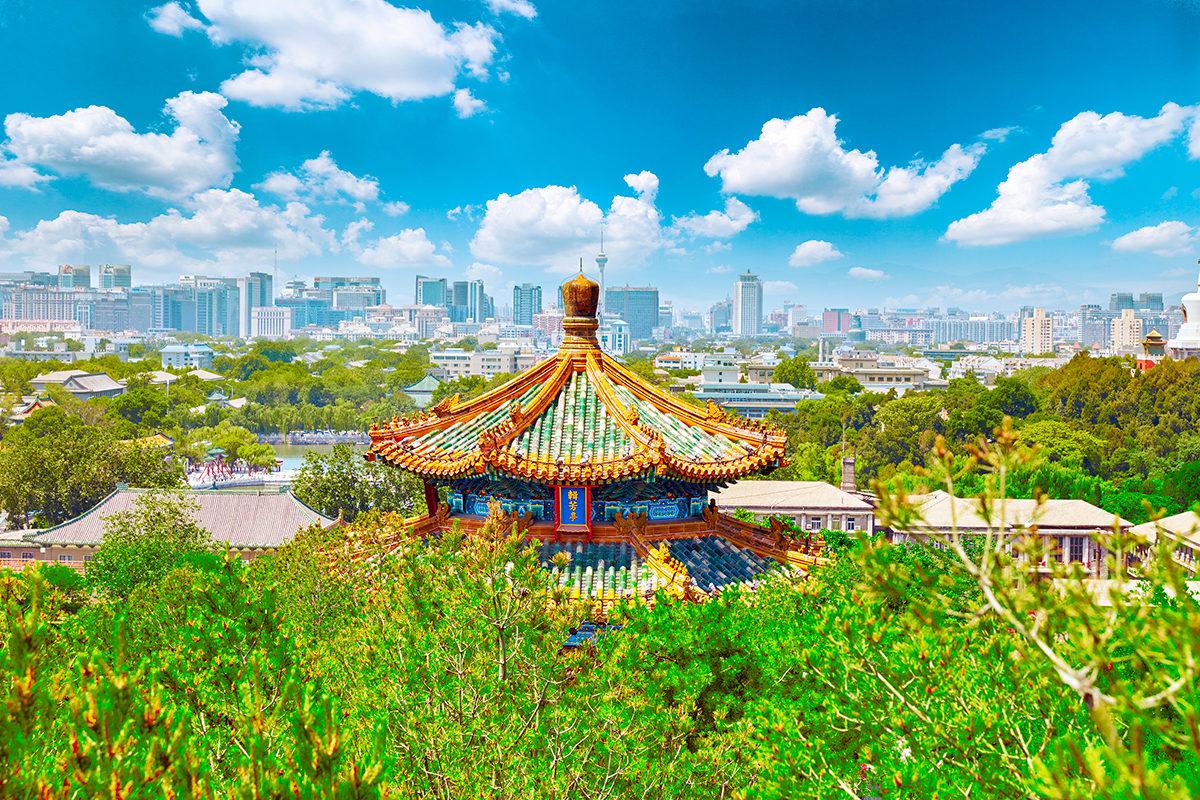 Парк Jingshan, гора Цзиншань
