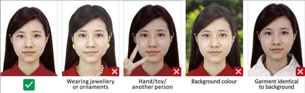 В основном, размеры касаются расположения головы на снимке: • Высота головы – от 3,2 см до 3,5 см. • Расстояние от макушки до подбородка – от 2,8 см до 3,2 см. • Расстояние от мочки левого уха до правого уха – от 1,5 см до 2,2 см. • Размер фото – 3,3 см на 4,8 см. • Высота от края фотографии до подбородка – не меньше 7 мм. • Расстояние от макушки головы до края фото – от 3 мм до 5 мм. Для цифрового (электронного) фото размеры также важны: • Ширина – 354 на 420 пикселей. • Высота – от 472 до 560 пикселей. • Расстояние между мочками ушей – от 191 до 251 пикселя. • Высота от края фото до разреза глаз – не меньше 256 пикселей. • Расстояние от макушки головы до края фотографии – от 10 до 85 пикселей. Фотография распечатывается на матовой бумаге, наличие глянца не допускается. На снимке не должны присутствовать пятна, грязь, заломы, механические и другие повреждения, овалы. Размеры детских фотографий аналогичны правилам оформления снимка для взрослых. Для получения китайской визы онлайн нужно соблюдать и размер файла, который содержит актуальную фотографию заявителя на визу. Этот параметр варьируется от 40 до 120 килобайт. Цвет фона – какие требования Фотографироваться надо на белом, контрастном, четком фоне, на котором не должно быть линий, рамок, овалов, уголков, водяных знаков. Снимок выполняется в полном цвете, в разрешении RGB цветовом пространстве (требование для цифрового фото). Подавать монохромные фото, т.е., черно-белые, на визу нельзя.