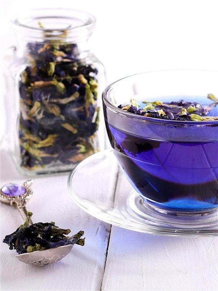 Применение синего чая